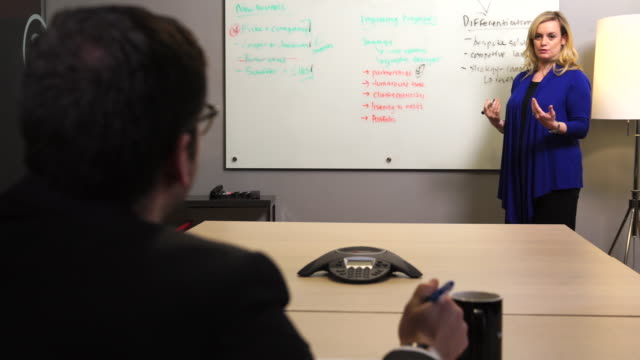 female executive pitches a client - sales pitch stock videos & royalty-free footage