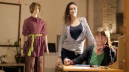 Female fashion designers at work