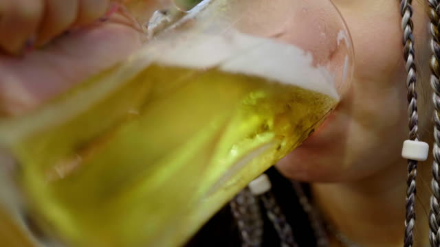 female feeling alone drinking alcohol or beer at japan restaurants - alcohol abuse stock videos & royalty-free footage