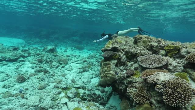 Female Freediver in Niue