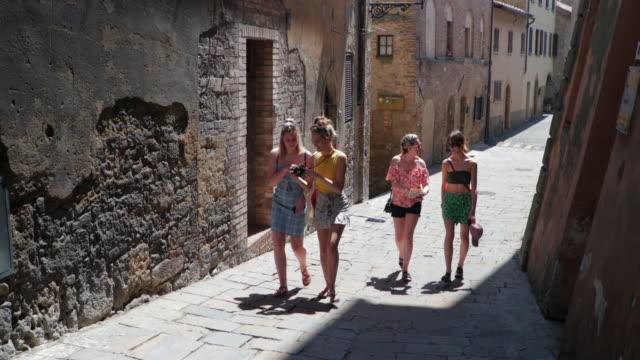 Female Friends Exploring Volterra