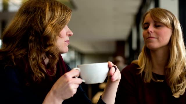 Female Friends in Cafe