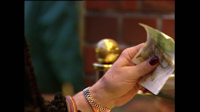 cu female hand pays in german deutsche marks; 1998 - 1998 stock videos & royalty-free footage