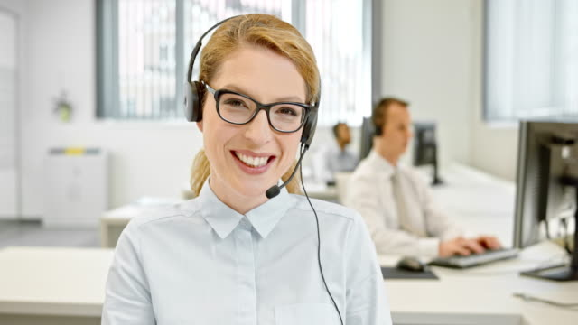 ld female helpline operator on video call with customer - customer service representative stock videos & royalty-free footage