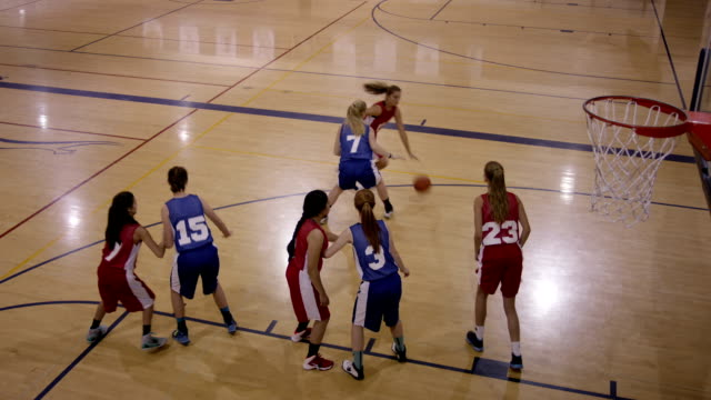 female high school basketball players - cheerleader stock videos & royalty-free footage