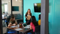 Female Hispanic and Latin entrepreneurs in Mexico and USA developing cooperation