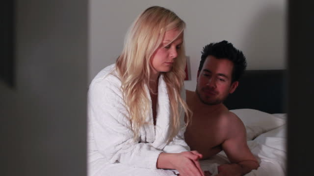 female in bedroom being upset with partner - sex and reproduction stock videos & royalty-free footage