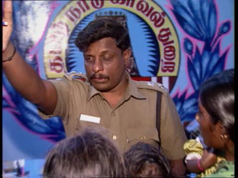 vídeos y material grabado en eventos de stock de female infanticide; indi: tamil nadu: salem: ext / at night family procession along towards as banging drums sof cms girls as carrying food on plates... - devaluation