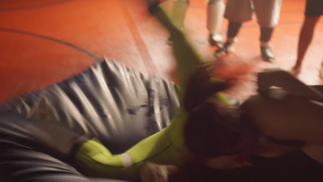 female jiu jitsu expert throws man - kick boxing stock videos and b-roll footage