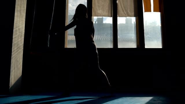 female kick-boxer training - boxing women's stock videos & royalty-free footage
