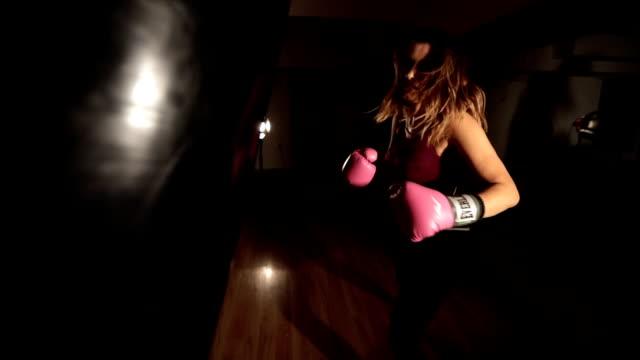 female kickboxer training - self defense stock videos and b-roll footage