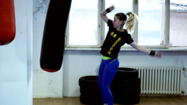 female leg kickboxing - kickboxing stock videos and b-roll footage