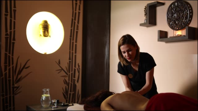 Female Massage Therapist Massaging Unrecognizable Woman Stock Footage Video Getty Images