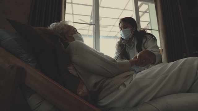 female nurse , volunteer - unhealthy living stock videos & royalty-free footage