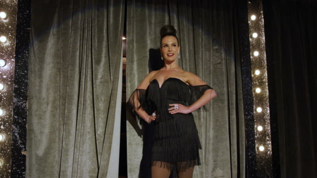 Female performer in a burlesque routine