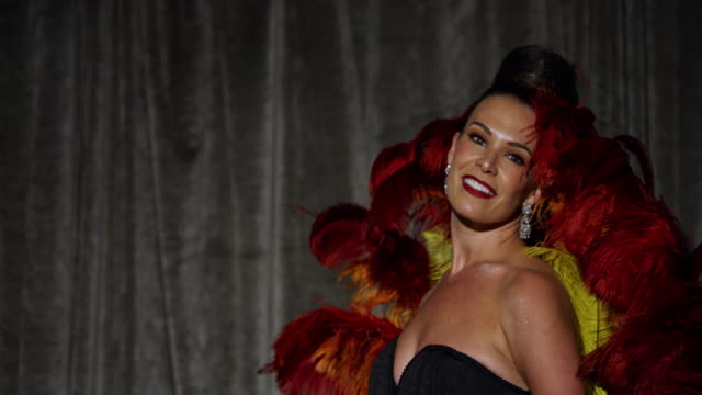 female performer in a burlesque routine - burlesque stock videos & royalty-free footage