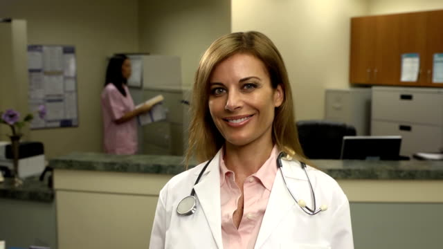 female physician in office - hospital leadership stock videos & royalty-free footage