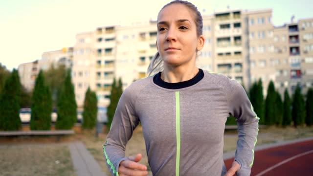female race runner - athlete stock videos & royalty-free footage