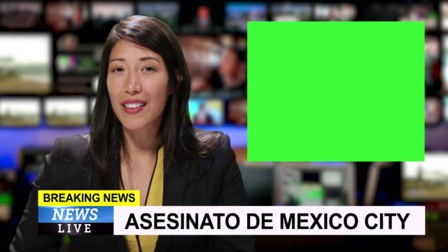 ms female reporting live from mexico city with breaking news - breaking news stock videos & royalty-free footage