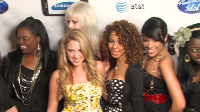 female semifinalists at the 'american idol' top 24 semifinalists event at west hollywood ca - american idol stock videos and b-roll footage