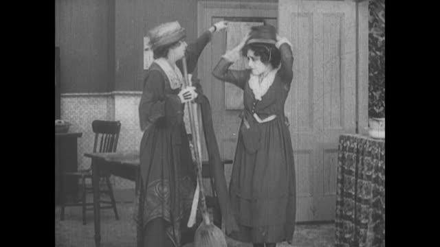 1917 a female servant is reprimanded - scolding stock videos & royalty-free footage