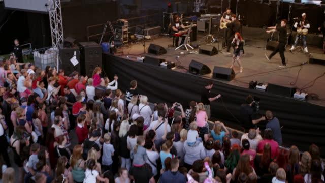 CS Female singer performing in concert