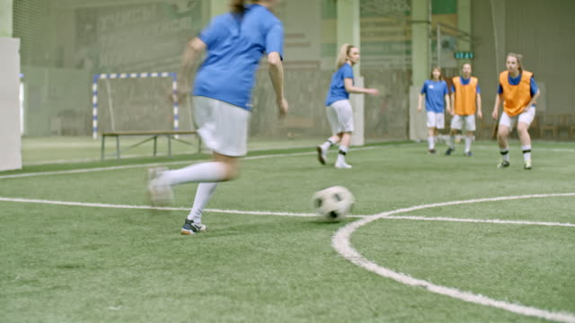 female soccer goalie saving goal - catching stock videos & royalty-free footage