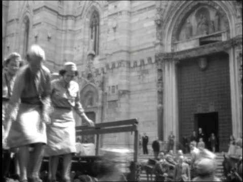 female soldiers jump off back of truck / rome italy - 1944 stock videos and b-roll footage