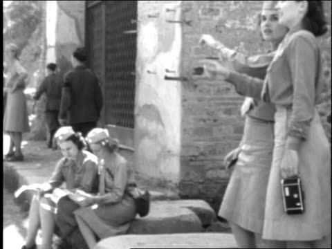 female soldiers looking at a map / rome italy - 1944 stock videos and b-roll footage