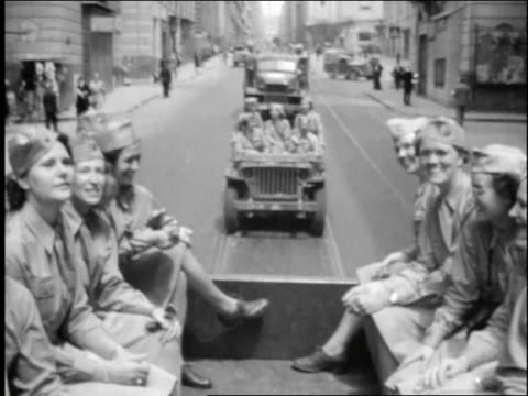 female soldiers riding in truck / rome italy - 1944 stock videos and b-roll footage