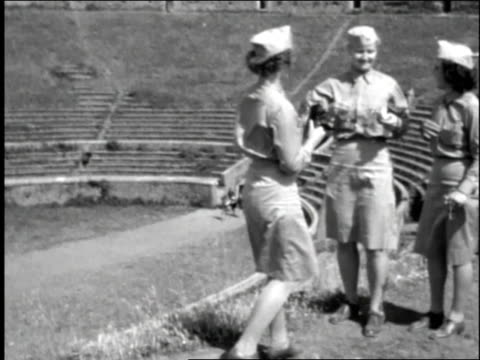 female soldiers take pictures in the coliseum / rome italy - 1944 stock videos and b-roll footage