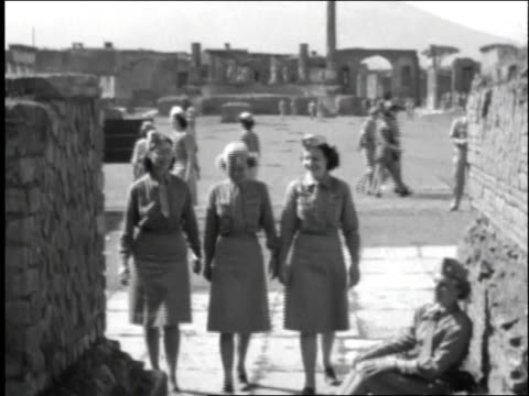 female soldiers walking / rome italy - 1944 stock videos and b-roll footage