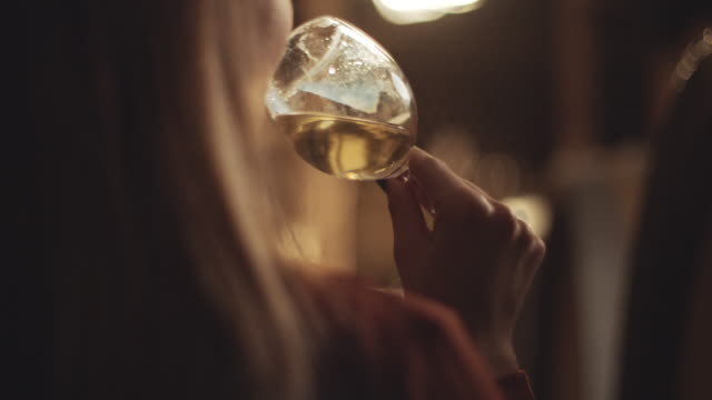 female sommelier tasting wine - french culture stock videos & royalty-free footage