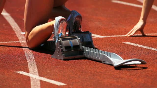 Female Sprinter At Starting Block Cinemagraph