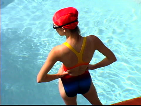 female swimmer - three quarter length stock videos & royalty-free footage