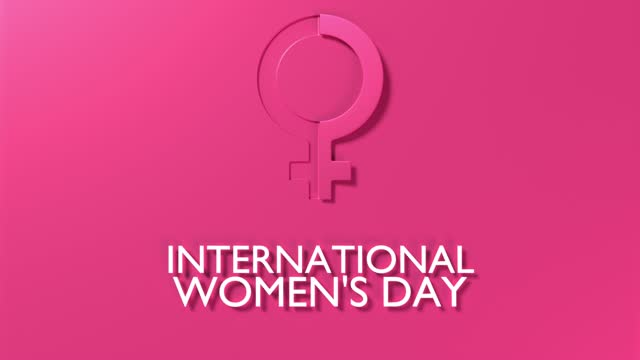 female symbol to celebrate 8 march international women's day animation in 4k resolution - number 8 stock videos & royalty-free footage