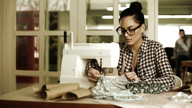 female tailor working - tailor stock videos & royalty-free footage