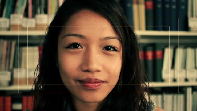 female talking to webcam - digital eyeball stock videos and b-roll footage