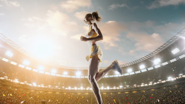 female track and field runner - athlete stock videos & royalty-free footage