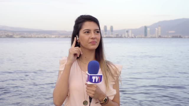 female tv reporter - tv reporter stock videos & royalty-free footage