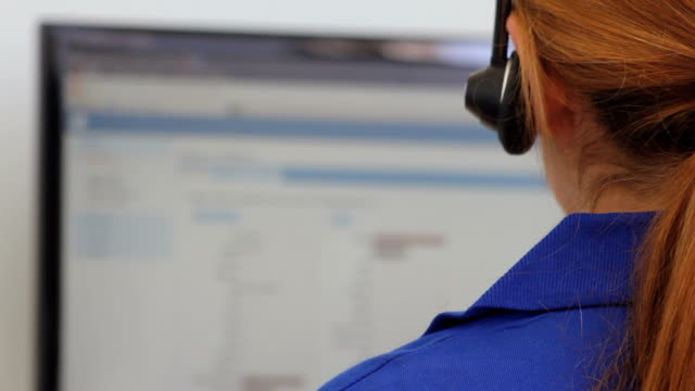 female with headset - customer service representative stock videos & royalty-free footage