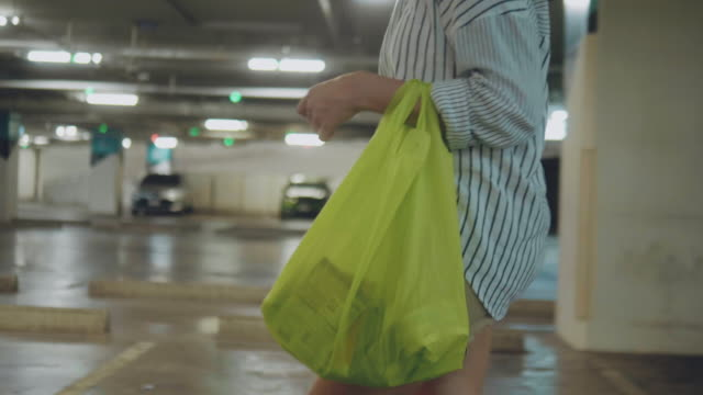female with shopping bags walking in a city. - convenience stock videos & royalty-free footage