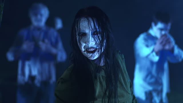 hd: female zombie beckoning - zombie stock videos & royalty-free footage