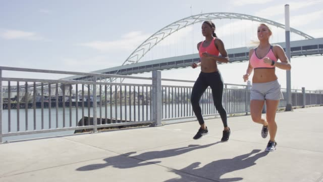 Females Running on a Sunny Day