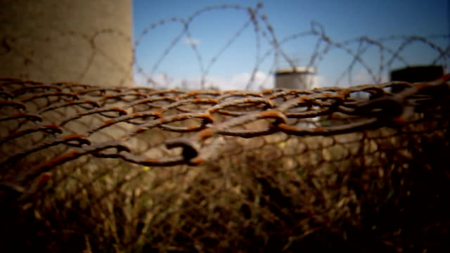 fence and barbwire - prison escape stock videos and b-roll footage
