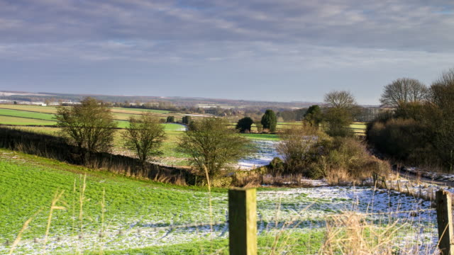 fence in yorkshire countryside - fence stock videos & royalty-free footage