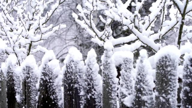 フェンスの雪 - winter点の映像素材/bロール