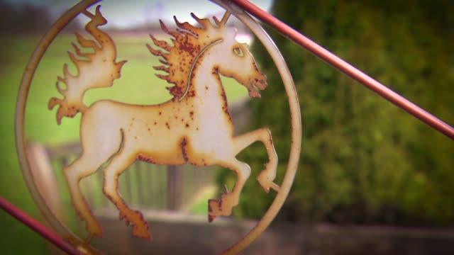 fence with metal horse - hooved animal stock videos & royalty-free footage