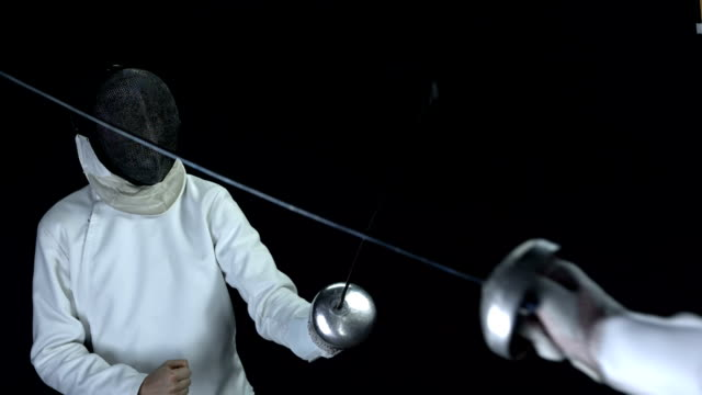 HD: Fencer Defeating An Opposing Player