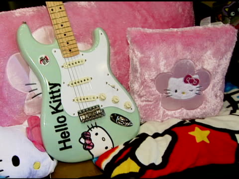 Fender and Hello Kitty at the Aly and AJ Presented with Custom Fender Guitars to KickOff Summer Tour at Verizon Amphitheater in Irvine California on...